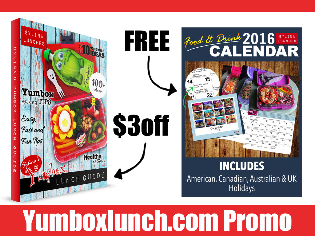 Yumbox Lunch Special - free 2016 calendar and $3 off lunch guide
